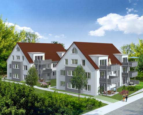Zwei 6-Familien-Häuser in Leinfelden-Echterdingen