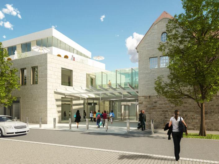 hochwertiger Neubau im Wuest Areal Fellbach Eingang