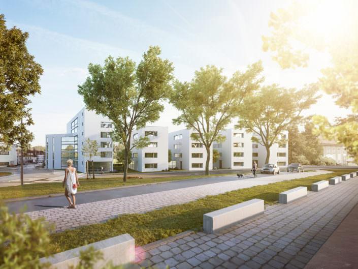Lauterterassen Kirchheim unter Teck Gebäudeautomation Smart Home Projekt Kirchheim Esslingen Frickenhausen Bauprojekt Neubau Lauter; REVOLUITON E; 5 Appartements; Mehrfamilienhaus; Bauvorhaben; Lautterterassen
