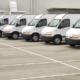 Elektroautos für den Betrieb, Fuhrpark mit E-Transportern.
