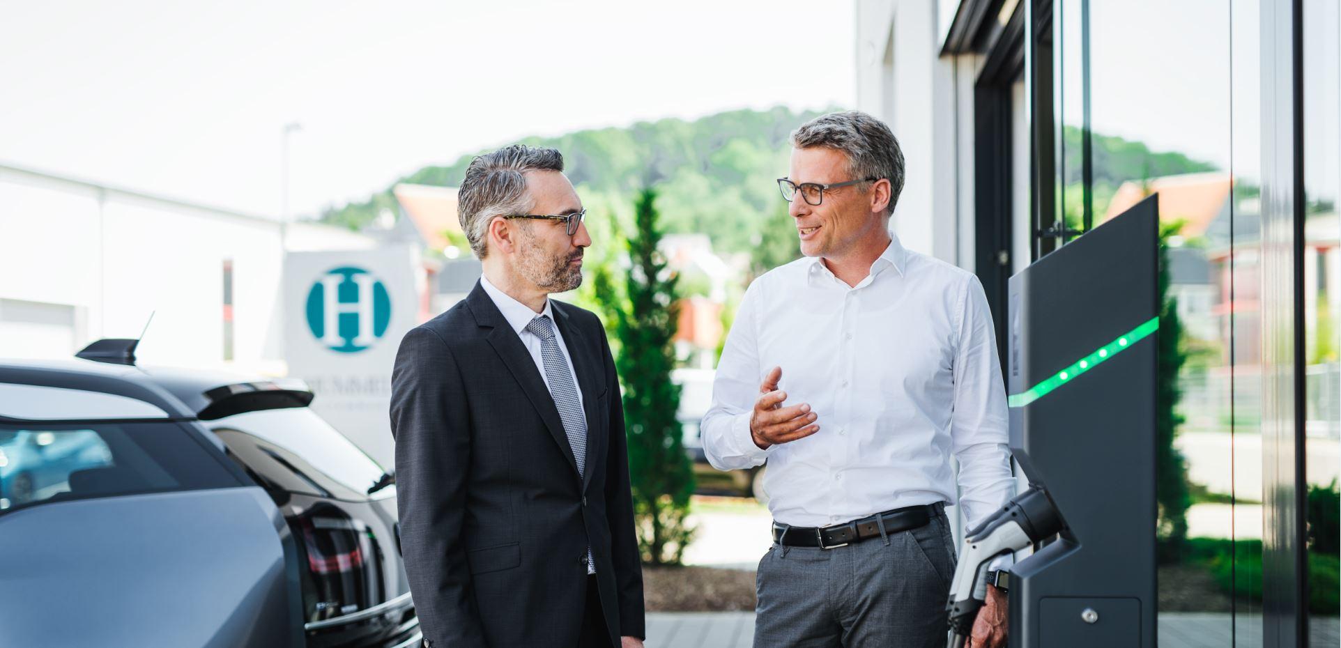 Emobilität in der Region Elektroladestation aus Frickenhausen