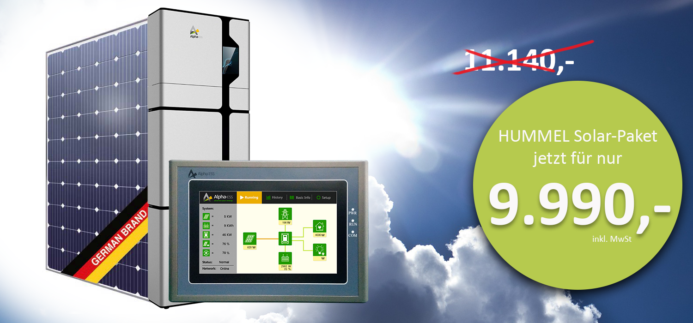 Solar-Paket Solarangebot