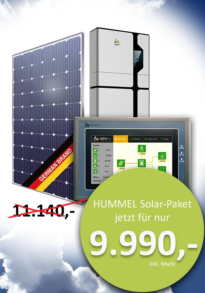 Solar-Paket Angebot Solarmodule Komplettpaket